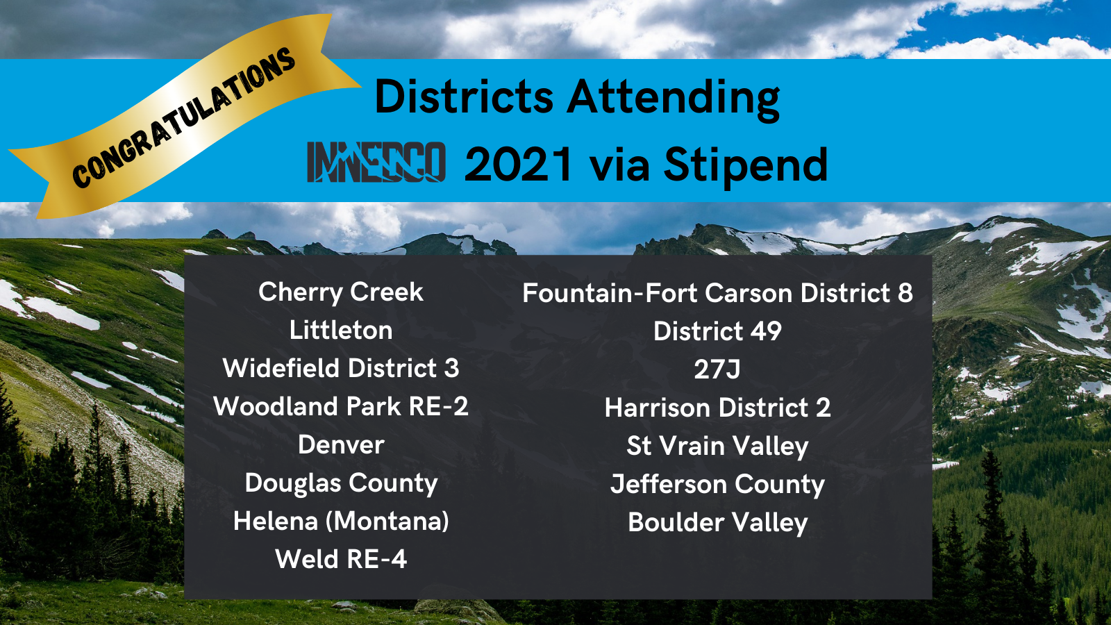 Districts Attending
